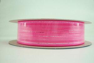 マジックフラワーリボン18mm【ラッピングリボン】【カラー:ピンク】ひもを引っ張るだけで簡単にお花が作れます!約1m位で約直径80mm位のお花になります。●寸法/幅18mm×約20m巻●材質/ナイ