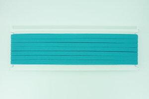 平ゴム【B-type】【12コール/巾約7mm/30m巻/国産品】【カラー:水色】ラッピングゴム・ブックバンドなど用途に合わせて使い方いろいろ!