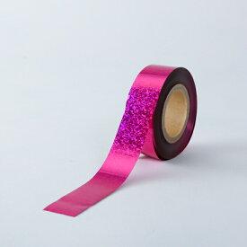 ホログラムテープ【カラー:桃】【テープ】【25mm幅×100m】ポンポン製作の他、パーティー会場などの飾りつけ、コンサートやライブに!!