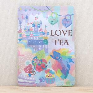 プチギフト お茶【ホラグチカヨ|LOVE TEA】プチギフトやお土産にもぴったりな「ごあいさつ茶」京都・宇治田原産・和紅茶ティーバッグ1包入/ライオン 動物 カラフル ハート お城 美味しい