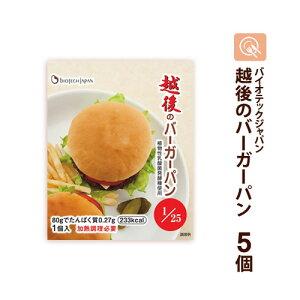 越後のバーガーパン 80g×5袋 低たんぱくパン 低タンパク 低たんぱく米 腎臓病食 バイオテックジャパン 米粉パン 常温保存