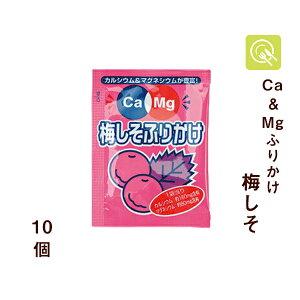 フードケア Ca&Mgふりかけ 梅しそ 2.6g×10袋 低たんぱく 低タンパク 減塩 マグネシウム カルシウム 腎臓病食 小分け お弁当 小袋 使い切り