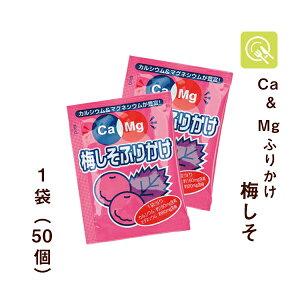 フードケア Ca&Mgふりかけ 梅しそ 2.6g×50袋 低たんぱく 低タンパク 減塩 カルシウム マグネシウム 腎臓病食 使い切り 小分け 小袋 お弁当