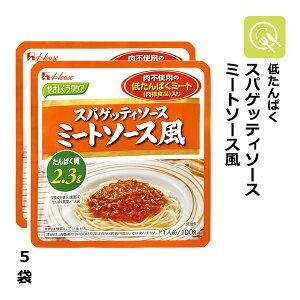 やさしくラクケア スパゲッティソース ミートソース風 5袋 (100g×5) 低タンパク 低たんぱく たんぱく調整 低たんぱくミート 減塩 低たんぱく食 腎臓病食 低たんぱく食品 ソース 調味料 パ