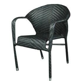 ダルトン ウィービング チェア ブラック チェアー イス 椅子 ユニーク おしゃれ 背もたれ リビングチェア ダイニングチェア 【 DULTON WEAVING CHAIR BLACK OS203558BK 】