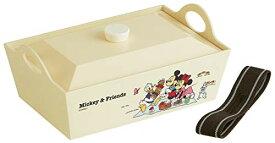 お弁当箱/幅23×奥行15×高9.2cm/ミッキーマウス/ディズニー ★ スケーター / 行楽フードボックス / PLF13 / MK&Frピクニック