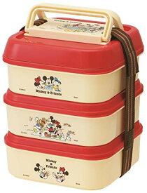 お弁当箱/大1.6L 中1.5L 小1.4L/ミッキーマウス/ディズニー ★ スケーター / ピクニック3段ランチボックス / P23 / MK&Frピクニック