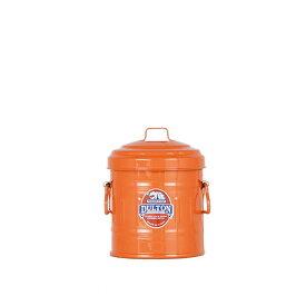 ダルトン マイクロ ガベージカン オレンジ 小物入れ ゴミ箱 卓上 小物入れ ダストボックス ふた付き おしゃれ 取っ手付き スチール 【 DULTON MICRO GARBAGE CAN ORANGE 100-244OR 】