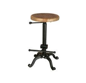ダルトン バースツール アンティークブラック スツール (背もたれなし) ウッドスツール アイアンスツール 木製座面 金属 シンプル おしゃれ ウッド アイアン イス 椅子 / DULTON BAR STOOL ANTIQUE BLACK S245-86ABK
