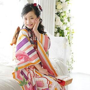 七五三 着物 7歳 フルセット 購入 販売 かぐや 梅 きもの 四ツ身 女の子 753 子供 キッズ七才用 子供用振袖 京都