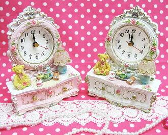 Table clock birthday present baby gift Christmas present celebration nursery gift present present of プリンセスベアー