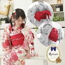 作り帯(文庫結び風) 子供 浴衣用 日本製 七五三 帯 マジックテープで簡単装着♪