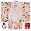 七五三 着物 3歳 女の子被布セット ブランド和がまま レース被布 黄色 ピンクぼかし 桜 金彩 雛祭り お正月