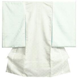 お宮参り着物用長襦袢 白 つけ袖付き ポリエステル 地紋生地 日本製