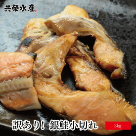 【 送料無料 】 訳あり 味は一緒 銀鮭 小切れ 3kg さけ 切り身 サケ ハラス