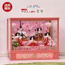 愛梨 雛人形 五人飾り 三段 5人飾り 間口53.5cm ひな人形 ケース コンパクト 【送料無料】