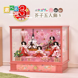 【選べる3種類】(あいり・あかり・いちか)雛人形 ケース飾り 間口53.5cm 雛人形 コンパクト かわいい ひな人形