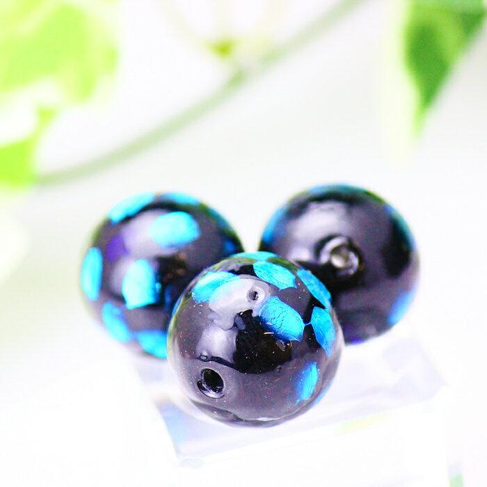 ホタル硝子 トンボ玉 蛍石 9~10mm 10粒