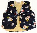 男児 子供服 そでなしはんてん 雪だるま<日本製 国内縫製 コットン100 綿100>子供用 男の子 80 90 100 110…