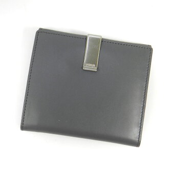 PRADA clips open wallet 2 fold wallet (purse and) leather unisex