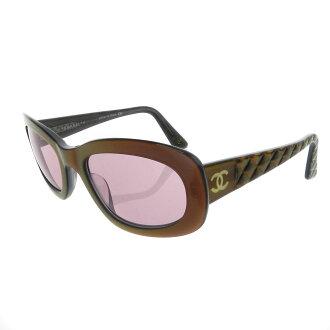 CHANEL matelasse wind with Coco make sunglasses sunglasses plastic ladies