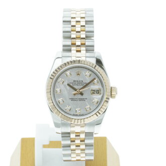 ROLEX179171G date just watch K18PG/SS Lady's
