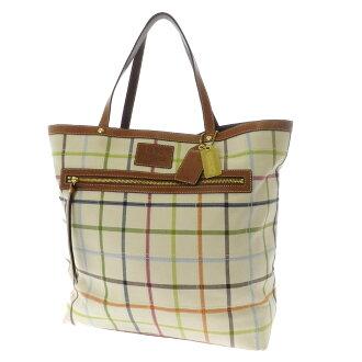 COACHG0768-11481手提包帆布x皮革女士