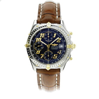 BREITLING Kurono mat Arabic numeric OH 済腕時計 SS/ leather men
