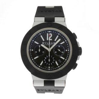 BVLGARI carbon black large AC44BTAVD SS / carbon mens watches