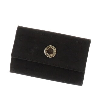 BVLGARI Mania key case 6-key case canvas x leather unisex