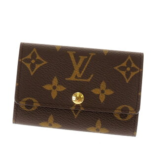 LOUIS VUITTON key holder 6 M 62630 key case Monogram Canvas unisex