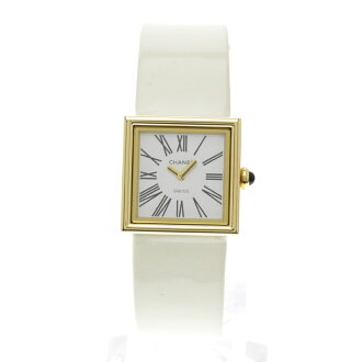 CHANEL mademoiselle watch SS/ leather Lady's fs3gm