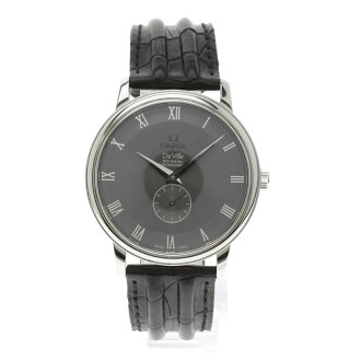 OMEGA de Ville prestige and co-axial watch SS / leather men