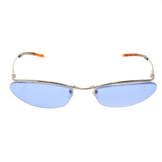 GUCCI blue lens sunglasses stainless steel unisex