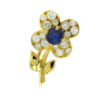 Van Cleef & Arpels トレフルブローチブローチ K18 yellow gold Lady's