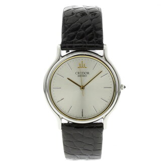SEIKO credor 8J81-6A30 watch SS / leather men's