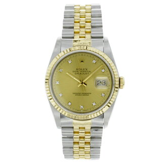 ROLEX Oyster Perpetual Datejust 16233 G watch K18YG/SS mens