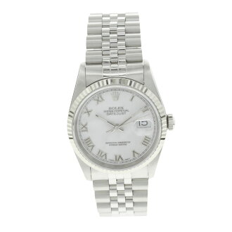 ROLEX Oyster Perpetual Datejust 16234 OH outstanding SS mens watches