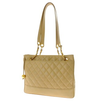 CHANEL matranssestetch shoulder bag lambskin ladies