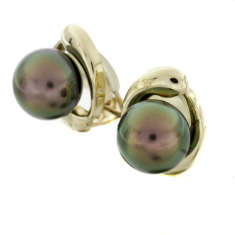 SELECT JEWELRY pearl earrings K18 yellow gold Lady's fs3gm