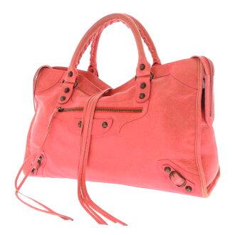 115748.6643.002123 BALENCIAGA ザシティ handbag leather Lady's
