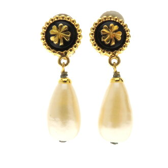 Lady's fs3gm made by CHANEL fake pearl earrings metal