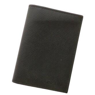 PRADA card put the card case leather unisex