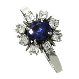 蓝宝石和钻石戒指-戒指-铂 PM850 女士