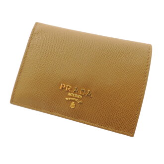 PRADA logo motif folio wallet (there is a coin purse) leather Lady's fs3gm