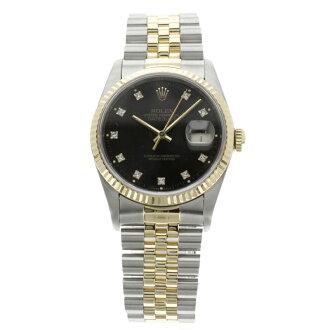 劳力士蚝永久日志型手表 162334 G 手腕上的手表不锈钢/GA/GP 男装