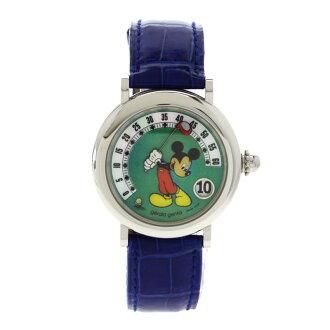 Gerald Genta重新流行空想米老鼠手表不锈钢/青皮革人apap8