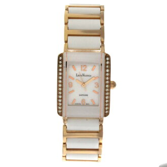 Authentic LEGRA VALENCIA Rhinestone Watch Ceramic  Quartz Women