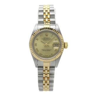 ROLEXオイスターパーペチュアルデイトジャスト79173手表不锈钢/K18YG女士fs04gm