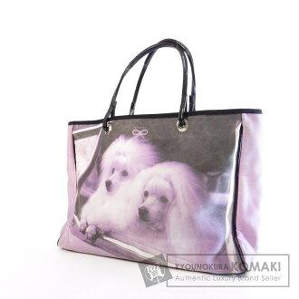安雅希德玛狗照片设计手提袋帆布 / 皮革女性